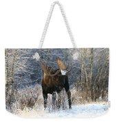 Winter Bull Weekender Tote Bag