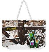 Winter Butterflies Weekender Tote Bag