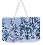Winter Coat Weekender Tote Bag by Aimelle