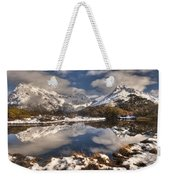 Winter Dawn Reflection Of Mount Weekender Tote Bag by Colin Monteath