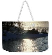 Winter Dusk Weekender Tote Bag