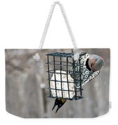 Winter Feeding Weekender Tote Bag