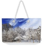 Winter Forest Covered With Snow Weekender Tote Bag