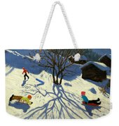 Winter Hillside Morzine France Weekender Tote Bag