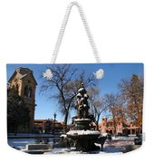 Winter In Cathedral Park Santa Fe Weekender Tote Bag