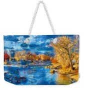 Winter In Salida -- Renoir Weekender Tote Bag