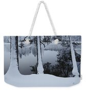 Winter In The Countryside  Bold Tree Weekender Tote Bag