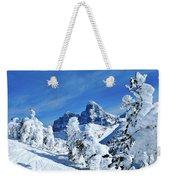 Winter In The Tetons Weekender Tote Bag