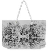 Winter Lake Weekender Tote Bag