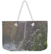 Winter Lower Yosemite Falls Weekender Tote Bag