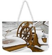 Winter On Board Weekender Tote Bag
