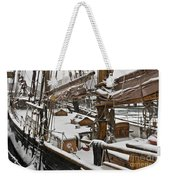 Winter On Deck Weekender Tote Bag