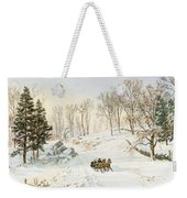 Winter On Ravensdale Road Weekender Tote Bag