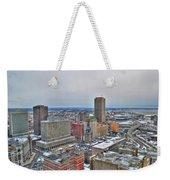 Winter Scene Downtown Buffalo Weekender Tote Bag