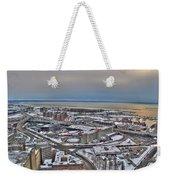 Winter Scene Land And Water Weekender Tote Bag
