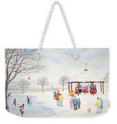 Winter Season Weekender Tote Bag