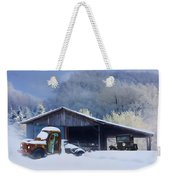 Winter Shed Weekender Tote Bag by Ron Jones