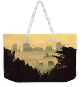Winter Smog Over The City Weekender Tote Bag