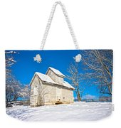 Winter Smoke House Weekender Tote Bag