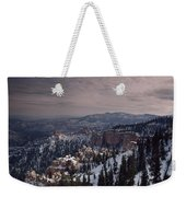 Winter Snow Covers The Landscape Weekender Tote Bag