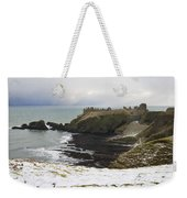 Winter Storm At Dunottar Weekender Tote Bag