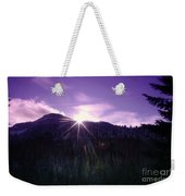 Winter Sun Winking Over The Mountains Weekender Tote Bag