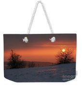 Winter Sunset Weekender Tote Bag by Michal Boubin