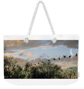 Winter Sunset  Silhouette Weekender Tote Bag by Brian Wallace