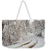 Winter Tracks Weekender Tote Bag