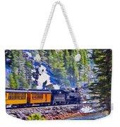 Winter Train Weekender Tote Bag