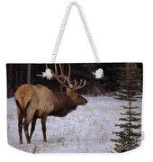 Winter Wapiti Weekender Tote Bag
