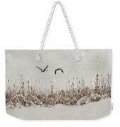 Winter Wings Weekender Tote Bag
