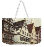 Winterly Old Town Weekender Tote Bag by Jutta Maria Pusl