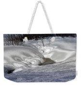 Winter's Satin Blanket Weekender Tote Bag