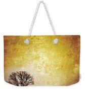 Wintery Road Sunrise Weekender Tote Bag by Jill Battaglia