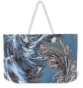 Wintry Pine Needles Weekender Tote Bag