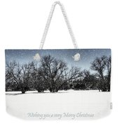 Wishing You A Very Merry Christmas Weekender Tote Bag