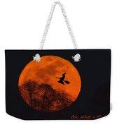 Witchy Moon Weekender Tote Bag