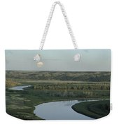 With A Full Moon Rising, The Meandering Weekender Tote Bag