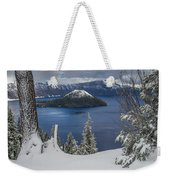 Wizard Island Through Trees Weekender Tote Bag