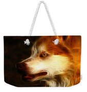 Wolf Or Husky - First Place Win In 'angry Dog Contest' Weekender Tote Bag