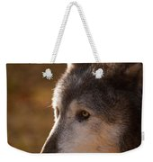 Wolf Outlined By The Sun Weekender Tote Bag