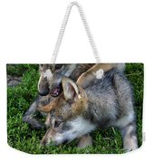 Wolf Play Weekender Tote Bag