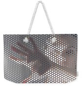 Woman Behind A Metal Mesh Weekender Tote Bag