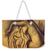 Woman Drying Weekender Tote Bag by Edgar Degas