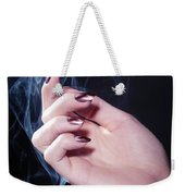 Woman Hand In A Stream Of Smoke Weekender Tote Bag