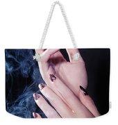 Woman Hands In A Cloud Of Smoke Weekender Tote Bag