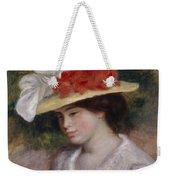 Woman In A Flowered Hat Weekender Tote Bag