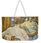 Woman In A Mirror Weekender Tote Bag