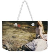 Woman In A River Weekender Tote Bag